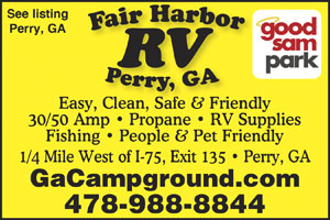 ONE OF GEORGIAS TOP CAMPGROUNDS Easy Convenient People Pet Friendly Large Full Service 30 50 Amp Pull Thrus With Wifi Cable TV Quietly Nestled