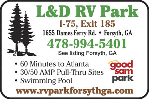 Forsyth Georgia Rv Parks Forsyth Campgrounds Rv