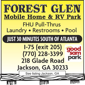 Forest Glen Mobile Home RV Park Jackson GA