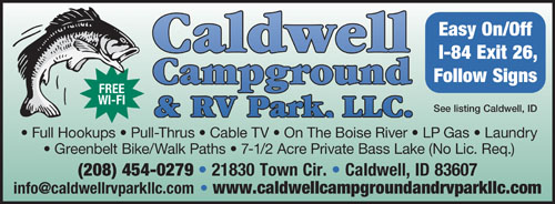 RV Parks in boise, Idaho   boise, Idaho Campgrounds