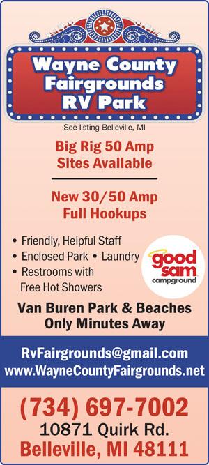 Digital Ad For Wayne County Fairgrounds Rv Park