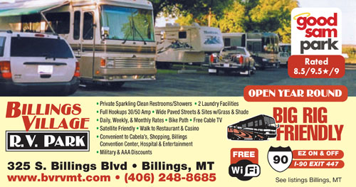 Rv Parks In Billings Montana Billings Montana Campgrounds