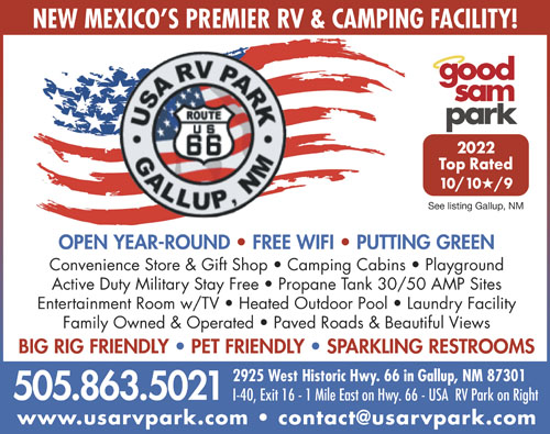 USA RV Park Gallup NM RV Parks And Campgrounds In New Mexico - Rv parks usa map