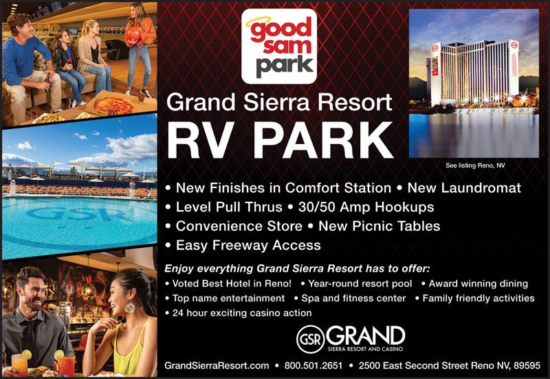 Rv Parks In Nevada Nevada Campgrounds Good Sam Club