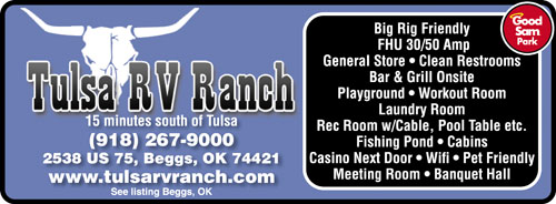 Tulsa RV Ranch Beggs OK