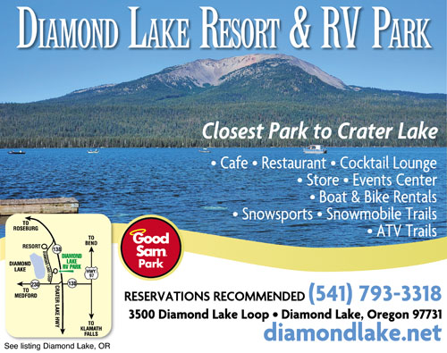 CLOSEST RV PARK TO CRATER LAKE NP Our Beautiful Park Is JUST 4 Miles From The No Entrance Of Crater Lake Nat With Its Picturesque Blue Water Many