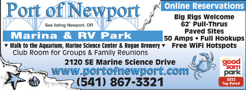 Rv Parks In Newport Oregon Newport Oregon Campgrounds