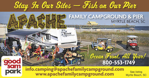 Apache Family Campground Pier Myrtle Beach Campgrounds