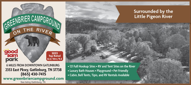 Gatlinburg Tennessee Rv Parks Gatlinburg Campgrounds Rv Camping In Tennessee Good Sam Club