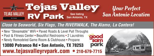 RV Parks in san antonio, Texas | san antonio, Texas Campgrounds