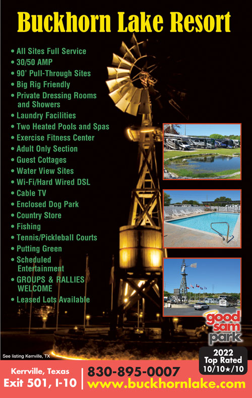 Kerrville Texas Rv Parks Kerrville Campgrounds Rv