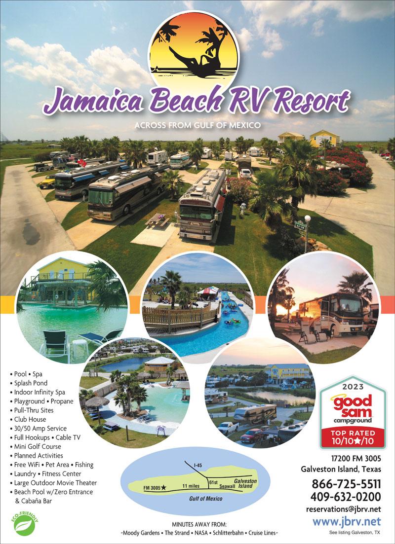 Galveston Texas Rv Parks Galveston Campgrounds Rv