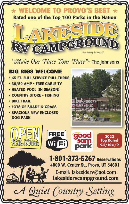 Rv Parks In Utah Utah Campgrounds Good Sam Club