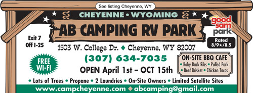 While Staying At AB Camping RV Park In Cheyenne WY Walk To Our Great BBQ Restaurant And Settle Down A Dinner