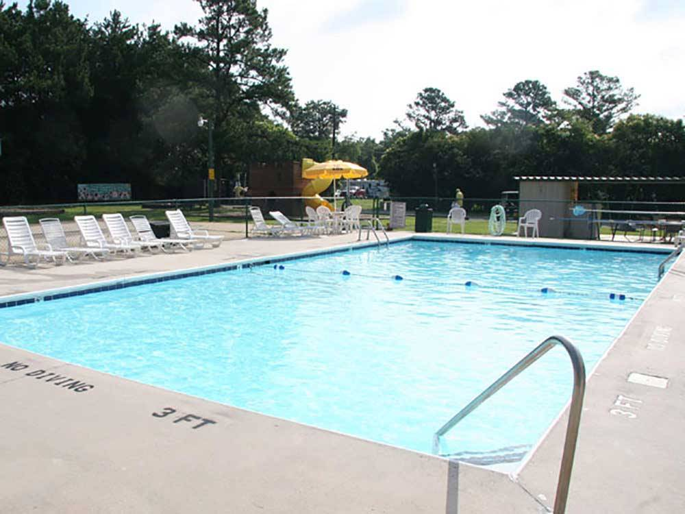 Swimming pool at RALEIGH OAKS RV RESORT  COTTAGES