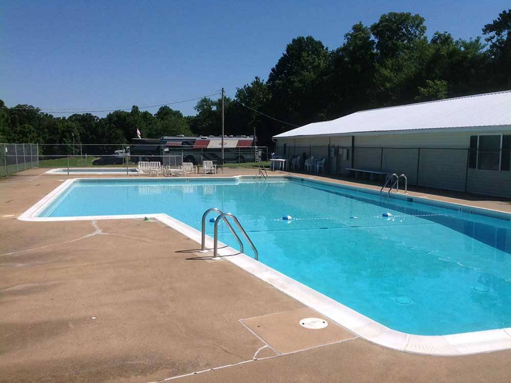 Community swimming pools  at GREENVILLE FARM FAMILY CAMPGROUND