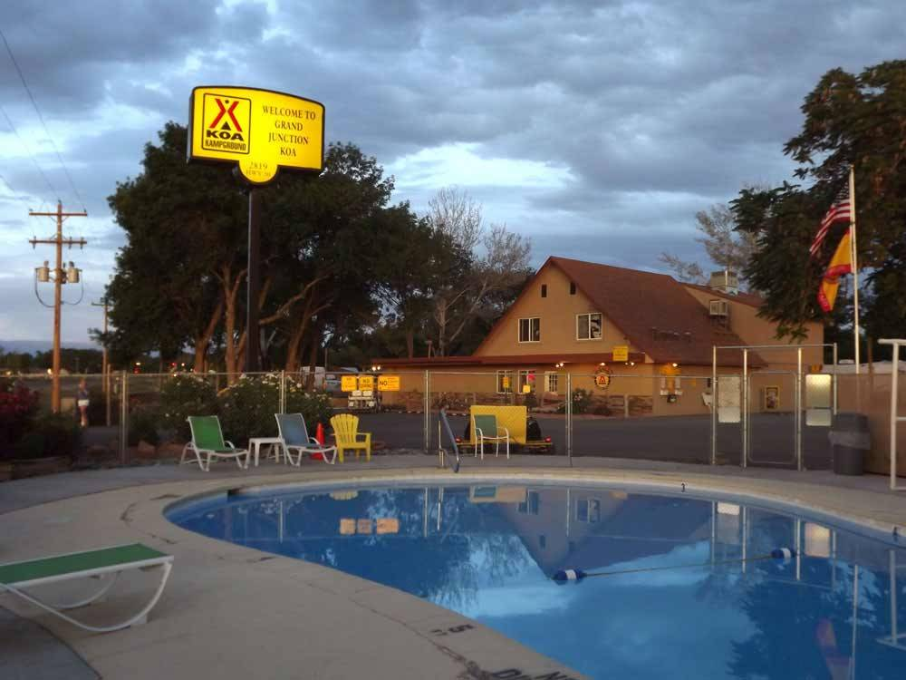 Swimming pool with lodging at GRAND JUNCTION KOA