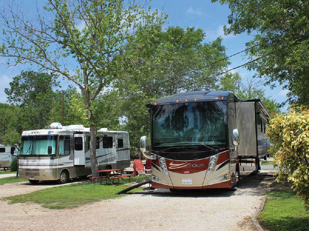 RVs camping  at AUSTIN LONE STAR RV RESORT