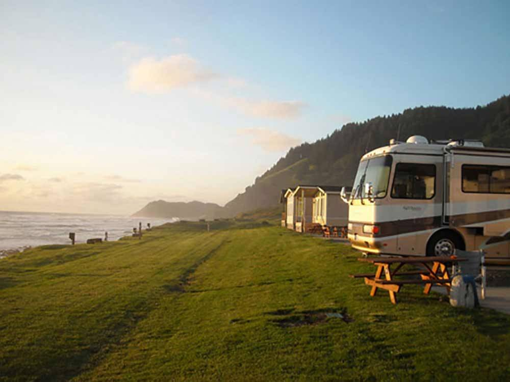 RV camping on the ocean at SEA PERCH RV RESORT