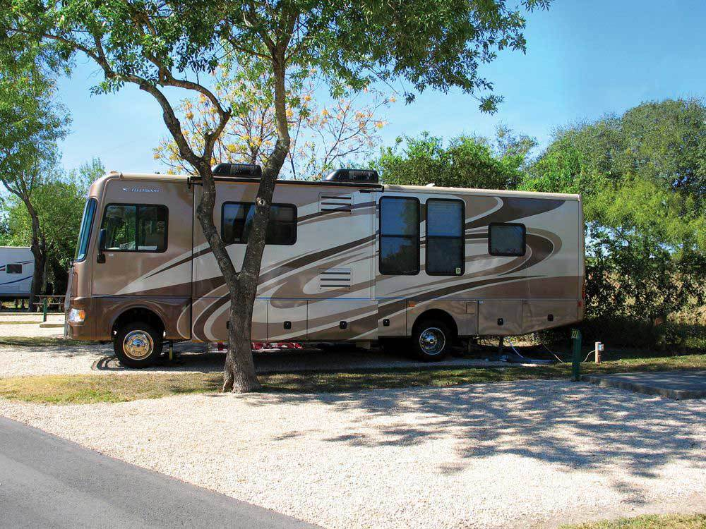 RV at campsite at TRAVELERS WORLD RV RESORT
