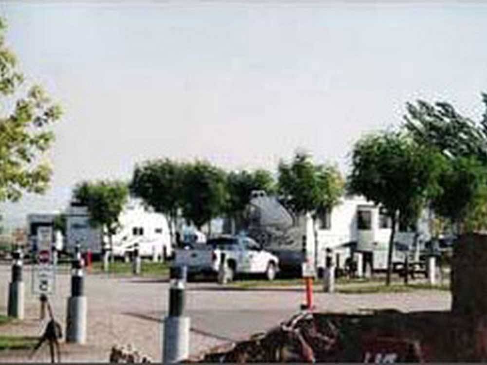 Trailers camping at campsite at DAYS END RV PARK