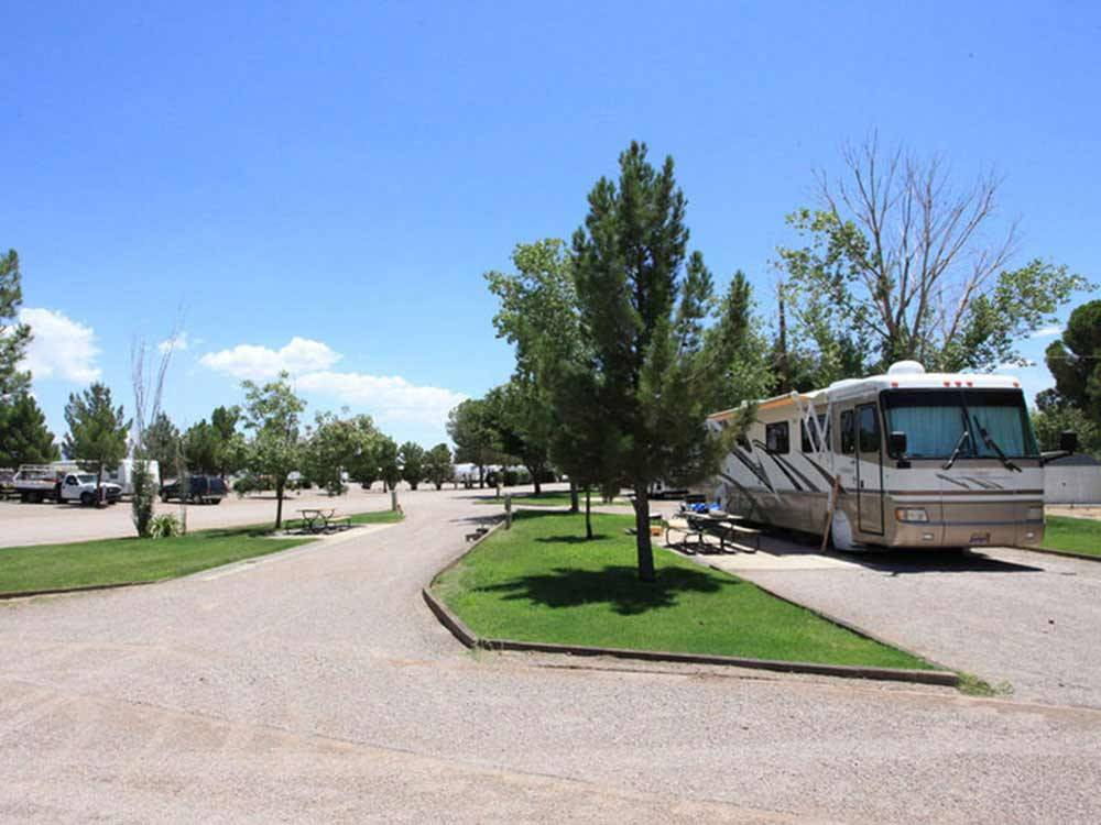 RV at campsite at SUNNY ACRES RV PARK