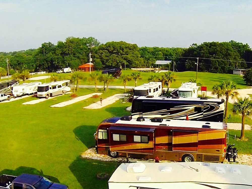 RVs and trailers at campground at RED GATE CAMPGROUND  RV PARK