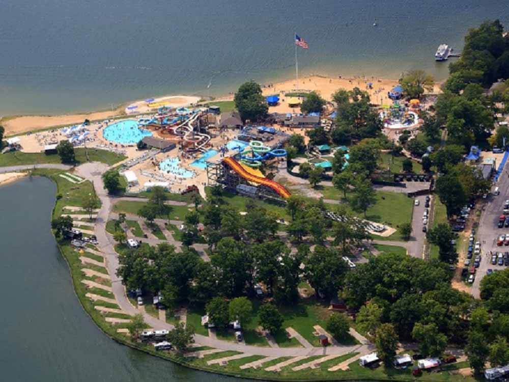 Aerial view of waterpark at NASHVILLE SHORES LAKESIDE RESORT