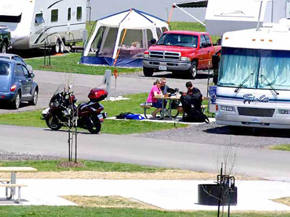 RVs tents and trailers at campground at 370 LAKESIDE PARK RV CAMPGROUND