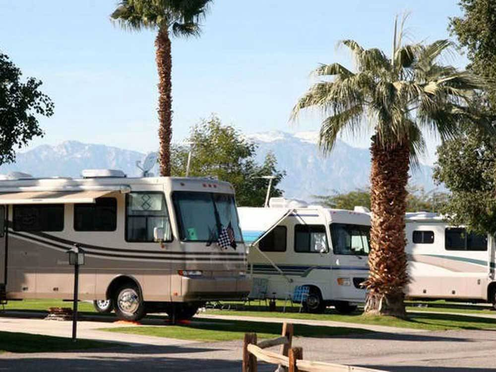 RVs camping  at INDIAN WATERS RV RESORT  COTTAGES