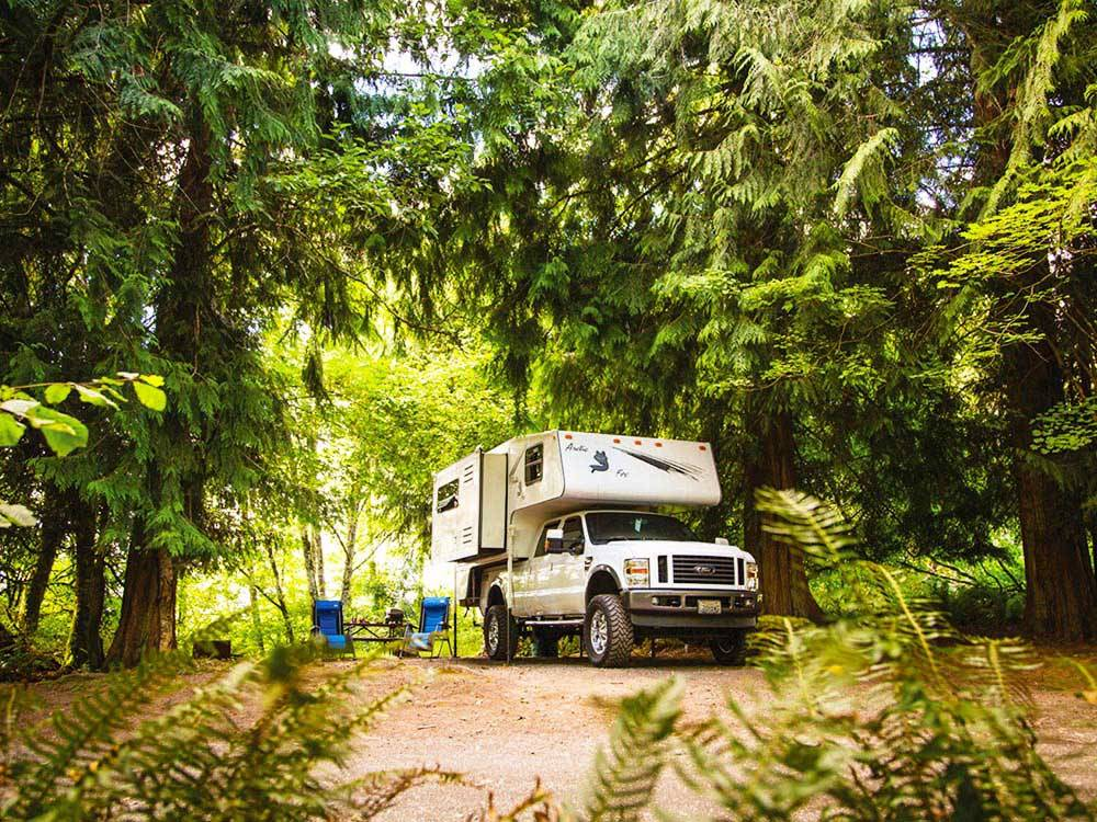 Truck and trailer camping at CHEHALIS RESORT
