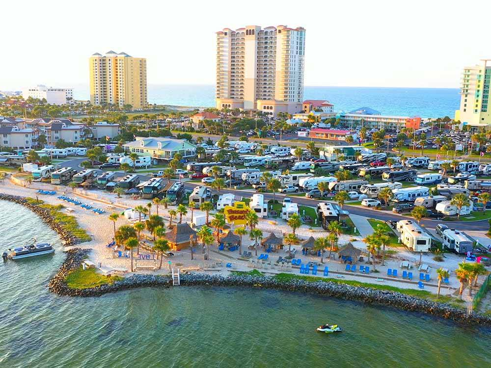 Office lodge with swimming pool at PENSACOLA BEACH RV RESORT