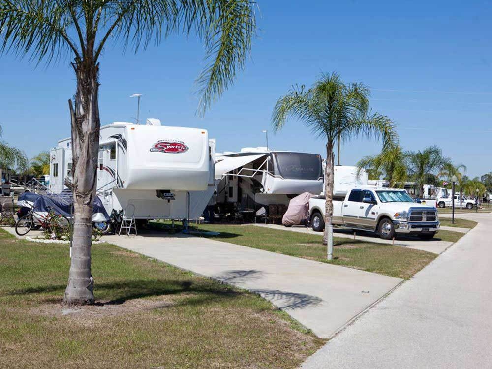 Trailers camping at RAINBOW RV RESORT