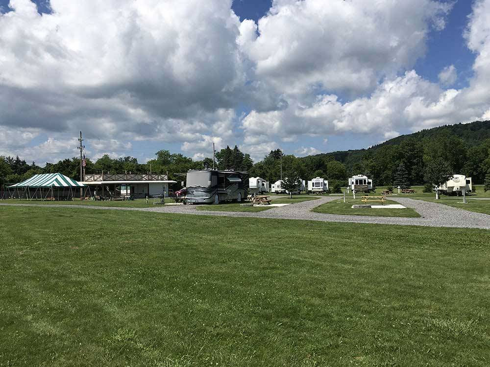RVs and trailers at campgrounds at CIDER HOUSE CAMPGROUND
