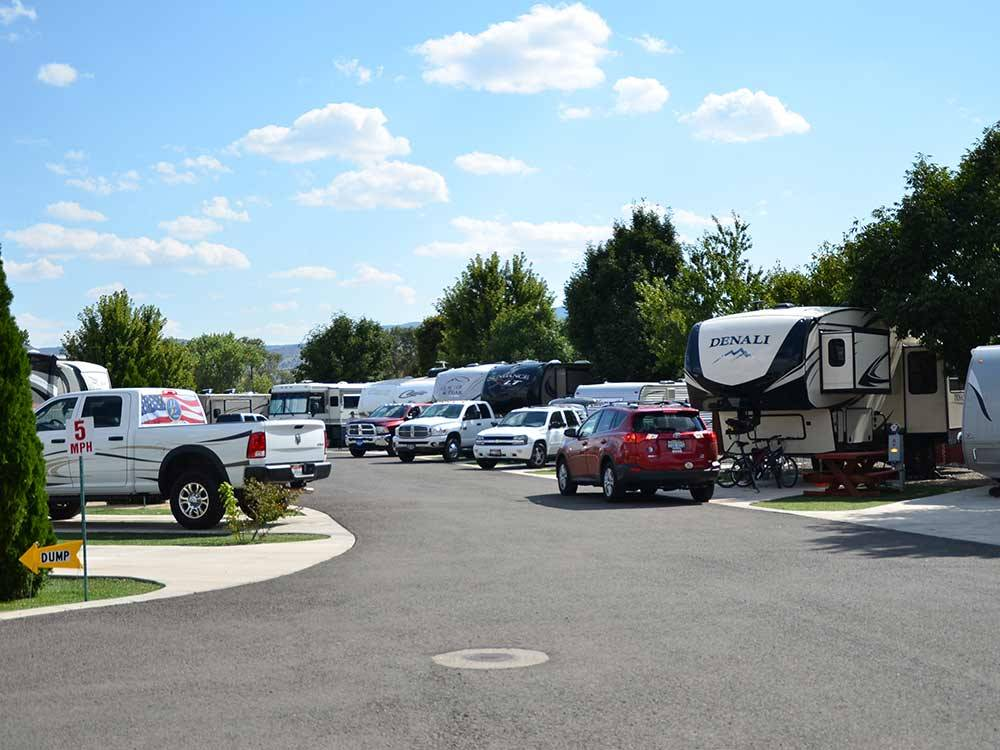 Trailers and RVs camping at DAYTON RV PARK