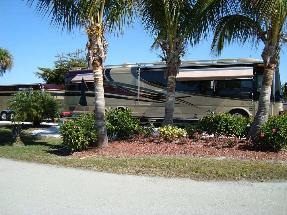 RV at campsite at GULF WATERS RV RESORT