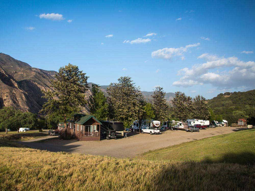 Cabins and trailers camping at RANCHO OSO RV  CAMPING RESORT