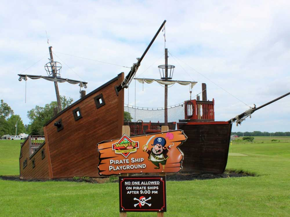 Pirate ship playground at SHANGRI-LA NIAGARA FAMILY CAMPGROUND