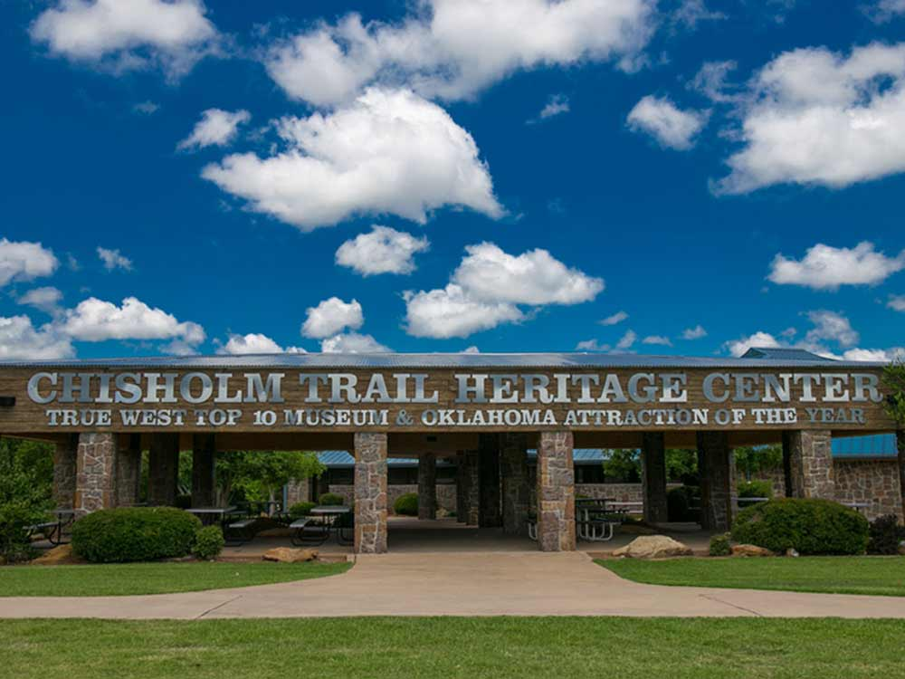 Heritage Center Entrance at CHISHOLM TRAIL HERITAGE CENTER
