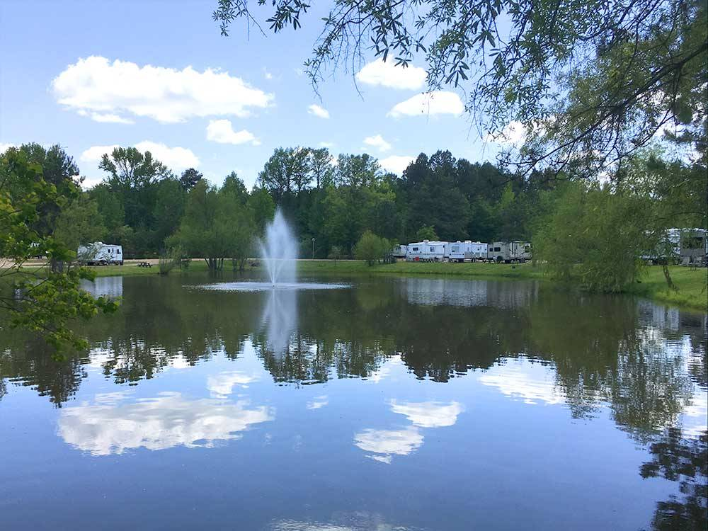 Lake view at MAGNOLIA RV PARK