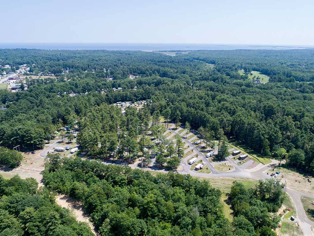 Aerial view of the park at OLD ORCHARD BEACH CAMPGROUND