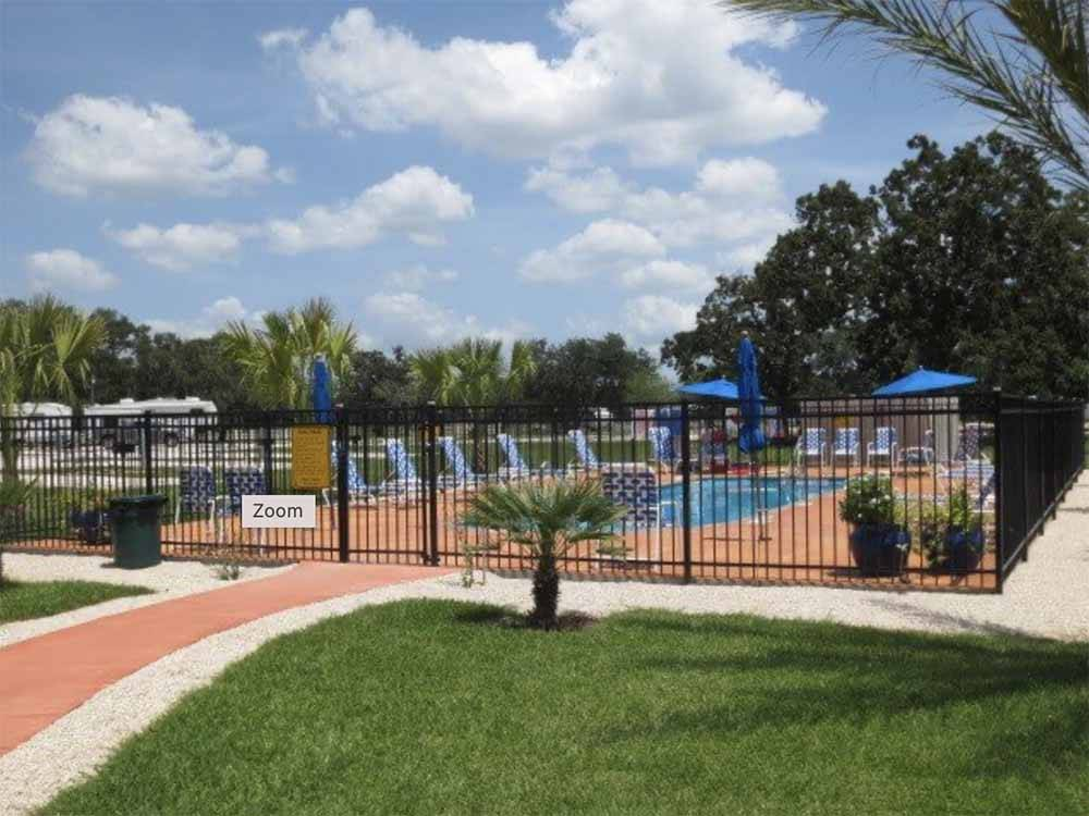 One of the pull thru RV sites at VICTORIA COLETO LAKE RV RESORT
