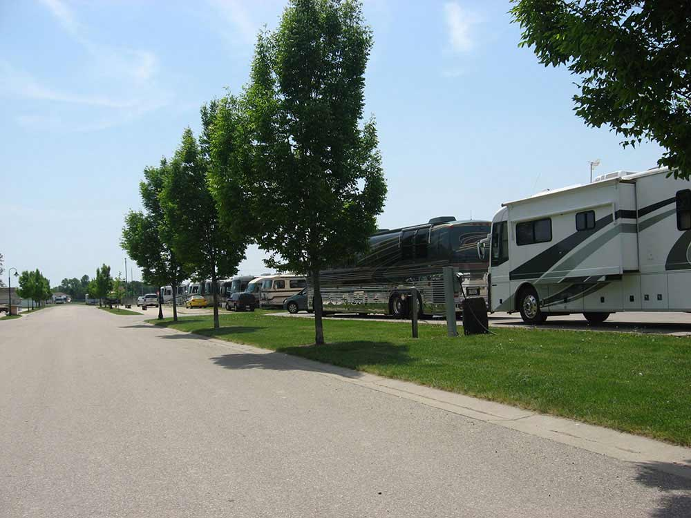 RVs parked in a row at JEFFERSON COUNTY FAIR PARK CAMPGROUND