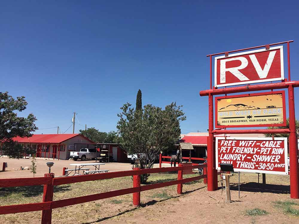 DESERT WILLOW RV PARK At VAN HORN TX