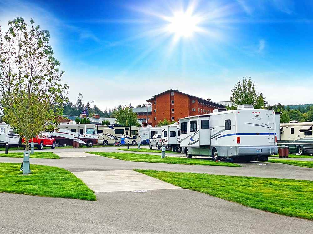 RVs camping at LITTLE CREEK CASINO RESORT RV PARK