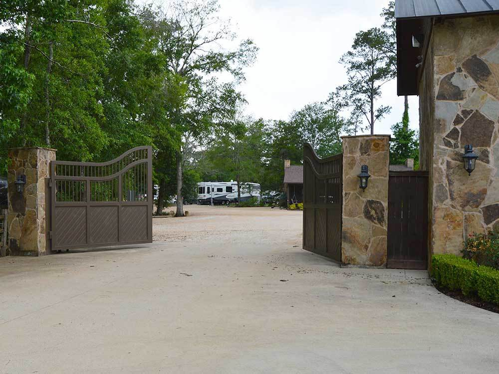 Entrance into campground at MAGNOLIA FOREST RV PARK