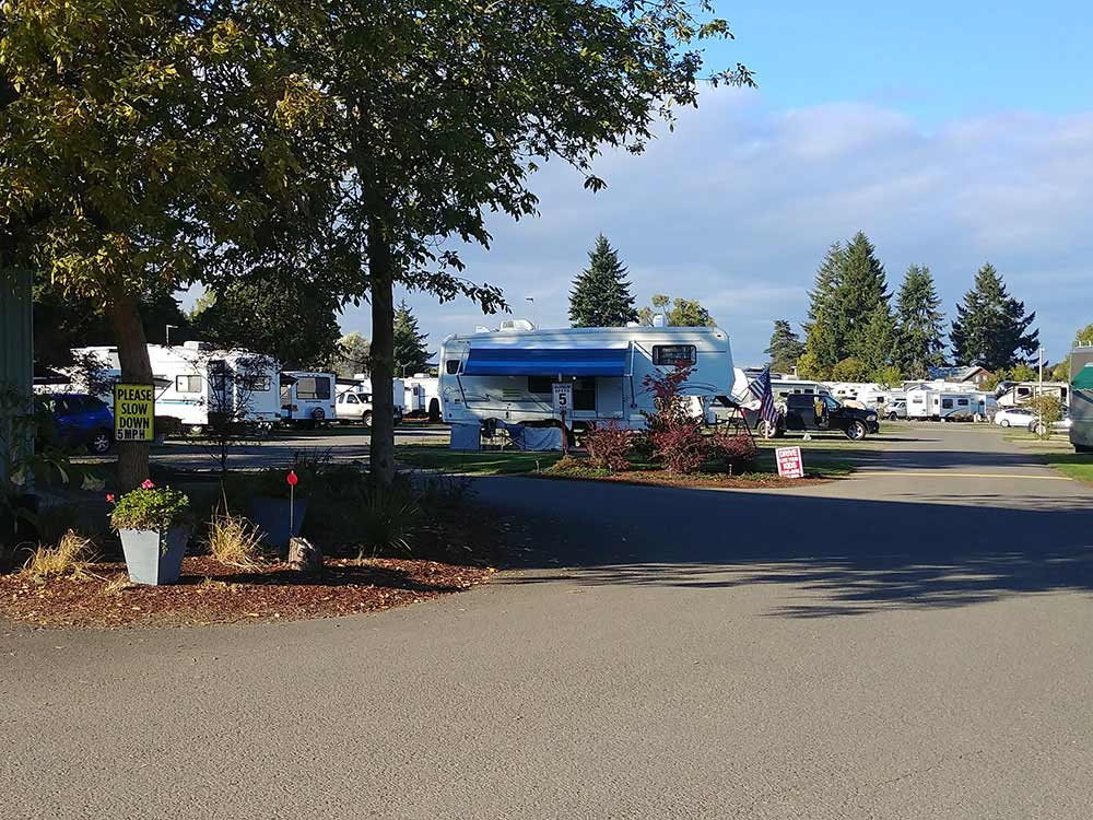 Paved roads and grass at MEADOWLARK RV PARK