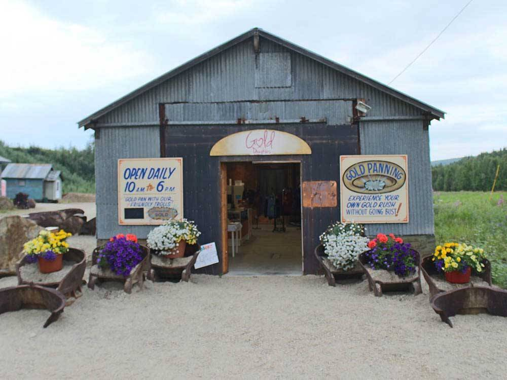 Flower barn at GOLD DAUGHTERS