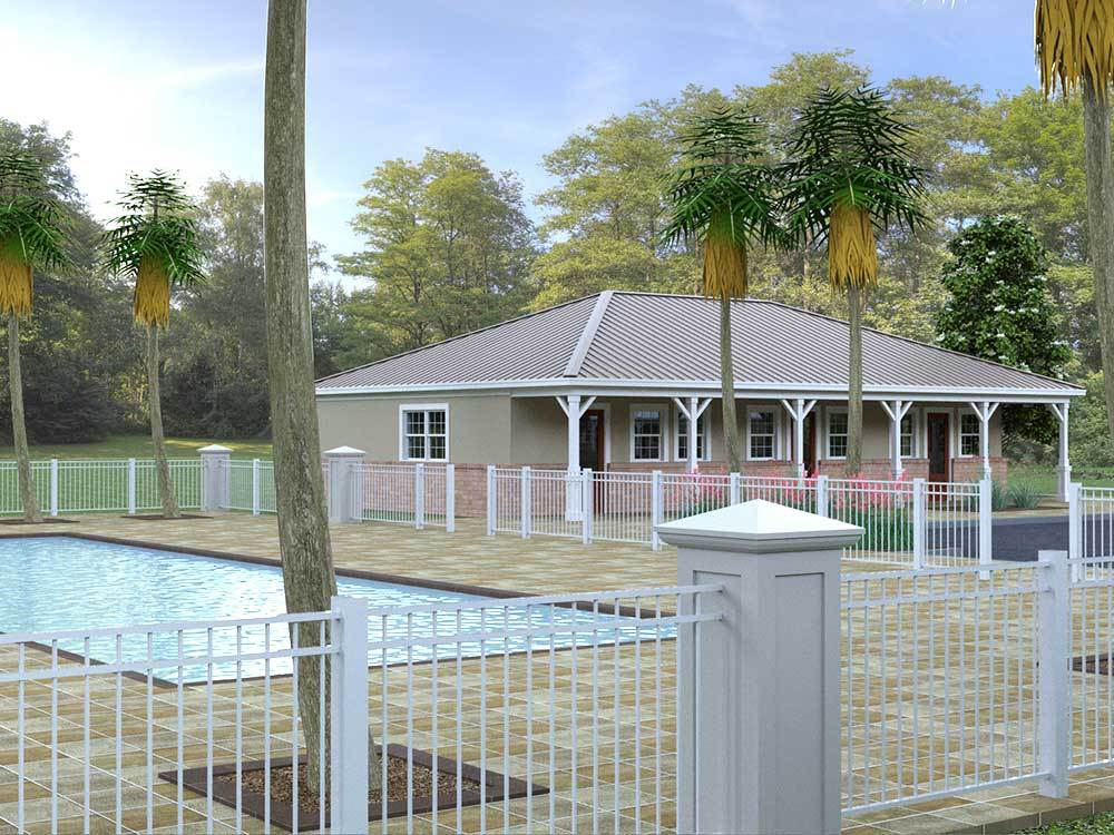Swimming pool at campgrounds at SOUTHERN LEISURE RV RESORT