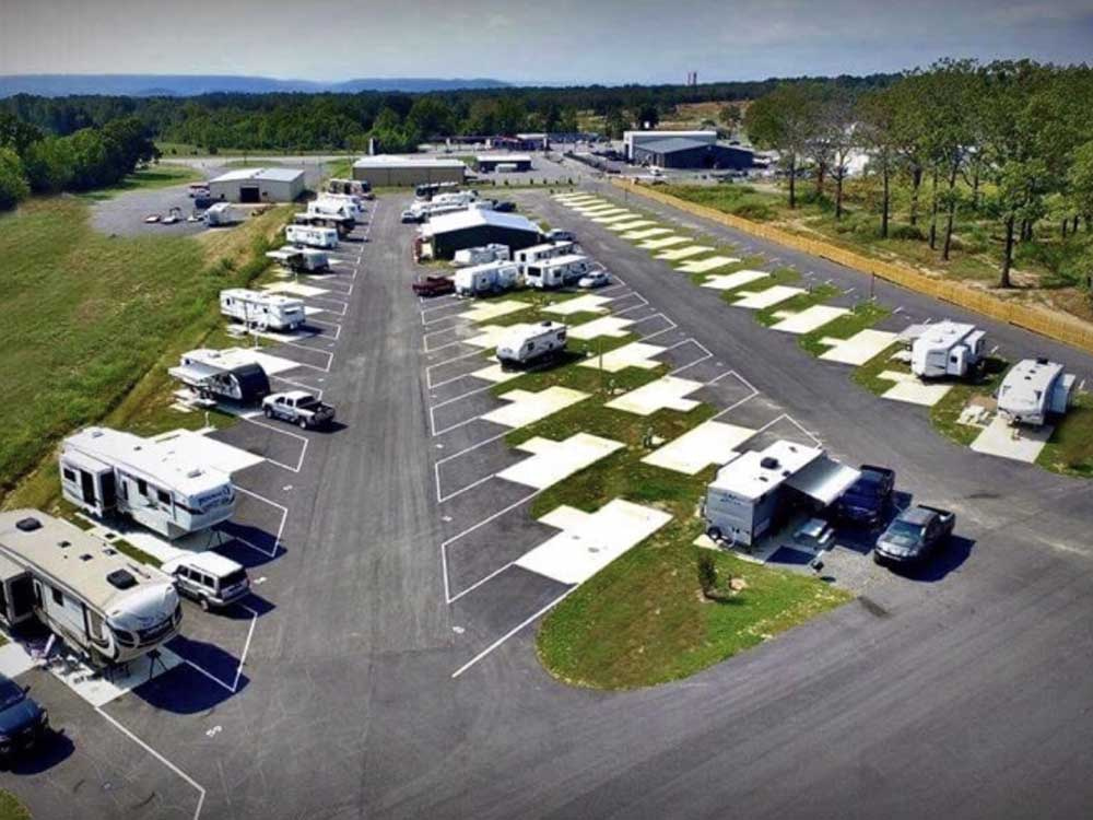Aerial view over campground at BRECKS RV PARK  COUNTRY STORE